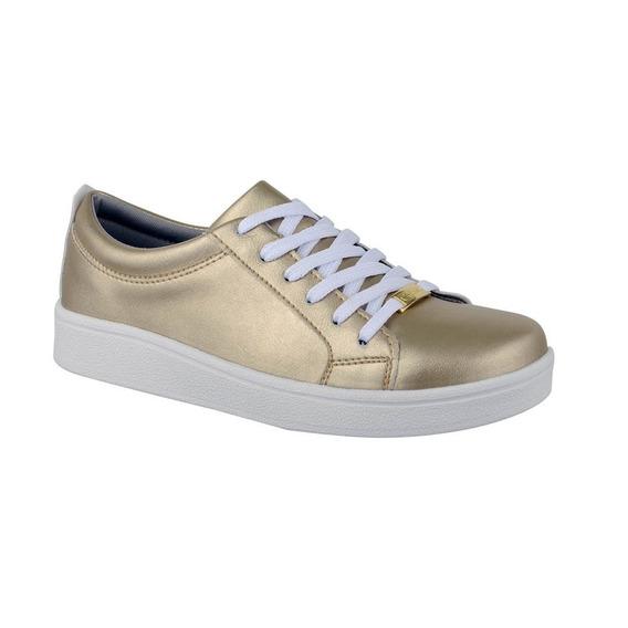 Tênis Plataforma Flatform Cr Shoes Feminino 4030f Dourado