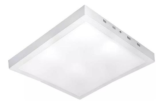 Luminária Plafon Led 48w 60x60 Branco Frio Sobrepor Premium