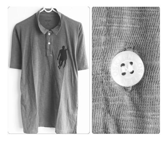 Camisa Polo Osklen Original Cinza Tamanho M