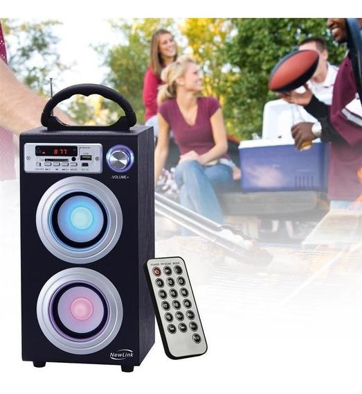 Caixa Som 30w Portátil Mp3 Usb Fm Torre Bluetooth Sp106