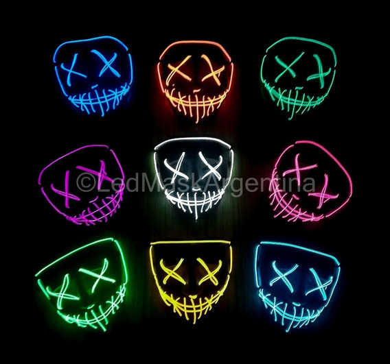Mascara La Purga Con Luces Led De Color Egresados Disfraz