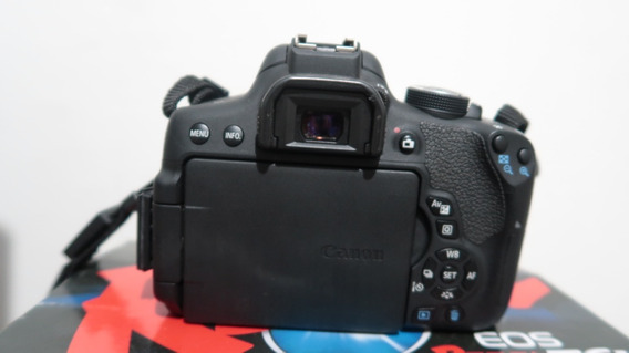 Câmera Canon Eos Rebel T6i + Lente Canon 24mm