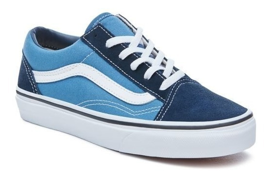 Zapatillas Vans Niño Old Skool Azul Blanco! Exclusivas Niño