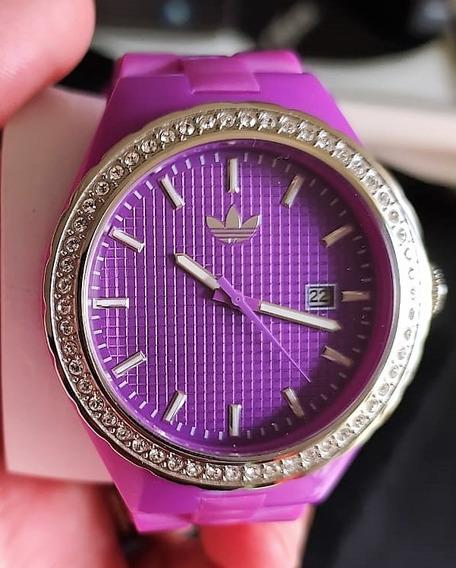 Relógio adidas Originals Adh2104 Magenta Com Aro Em Cristais