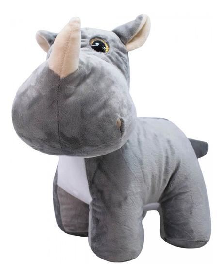 Rinoceronte Focinho Comprido 31cm Pelúcia Original Fofy Toys