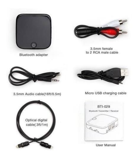 Transmissor E Receptor Bluetooth Conversor Óptico P2 Som