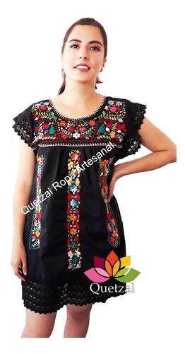 Imagen 1 de 1 de Vestido Dama Mexicano Artesanal Bordado Típico Tradicional