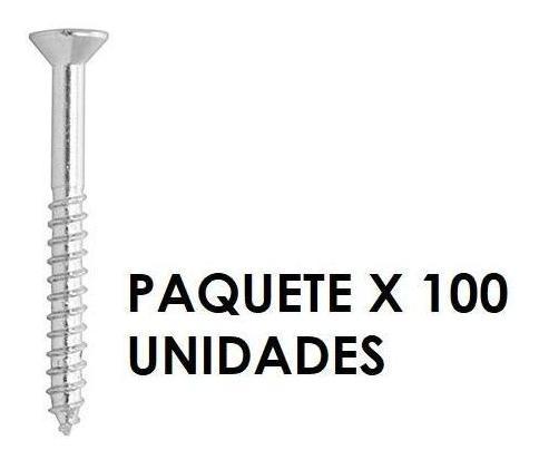 Tornillo Madera Cabeza Conica 8 X 1-1/4 Pulgada X 100 Unidad