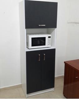 Mueble Para Micro Ondas Blanco Oficina Hogar Restaurante