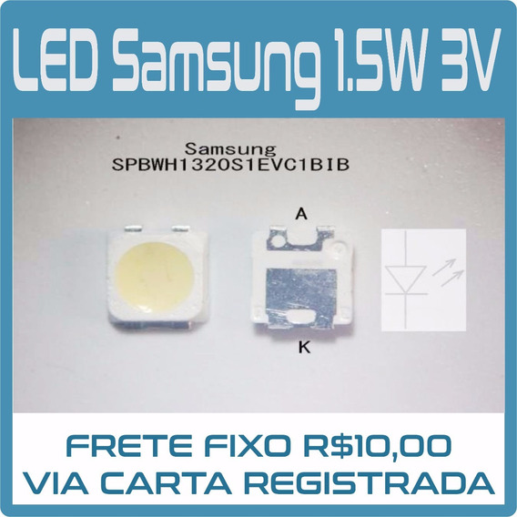 Kit 20 Led Samsung Smd 3228 2828 3v 1,5w Original - C/ Zener