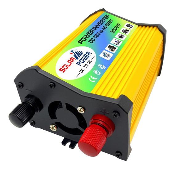 Inversor De Energía Solar Para Coche 3000w Dc 12v A Ac 110v