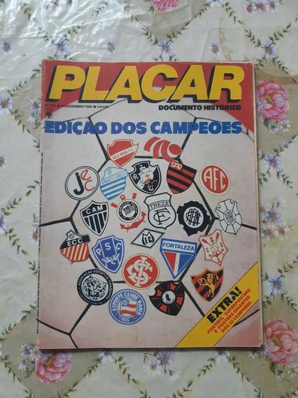 Revista Placar N 657 Edição Dos Campeões Com Pôster Gigante