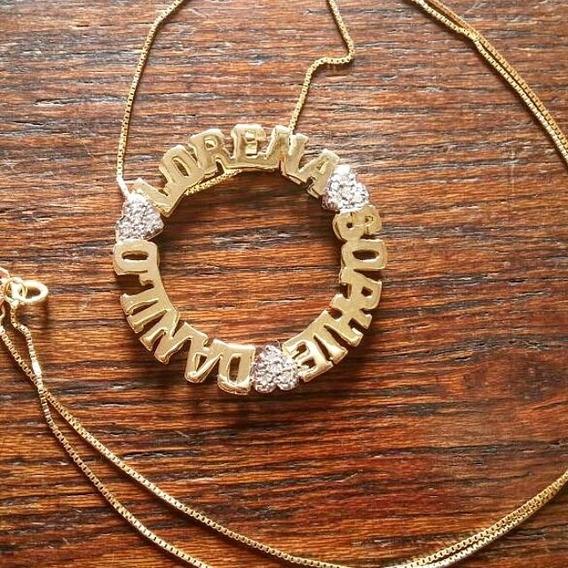 Mandala Personalizada Em Ouro 18 Com Diamantes