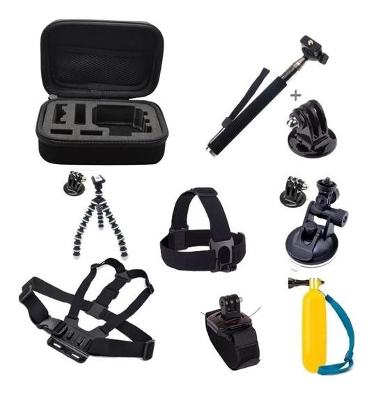 Kit Aventura Gopro Hero Acessórios Go Pro 3 3+ 4 5 Hd Black