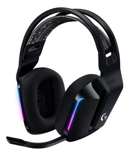Audifonos Logitech Wireless Lightspeed Rgb G733 Black
