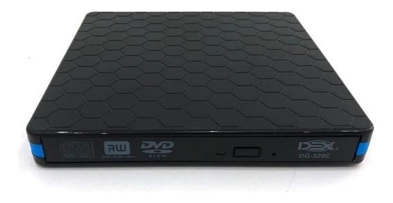 Gravador E Leitor Dvd Cd Externo Drive Slim Portátil Usb 3.0