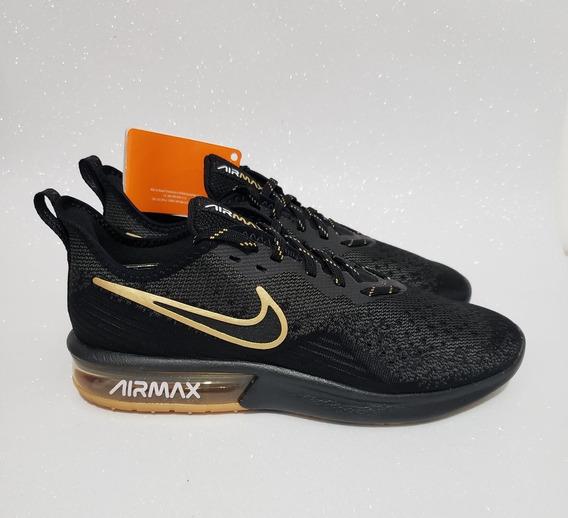 Nike Am Sequent 4 Tênis Masculino De Corrida Preto C/ Dour