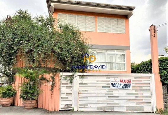 Belíssima Casa Para Locação - Vila Mariana - Quatro Dormitórios, Duas Suítes E Oito Vagas De Garagem. Visite ! - So0074