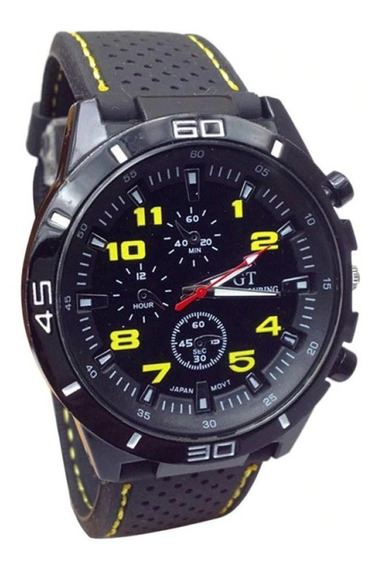 Relógio Gaiety Quartzo Pulseira De Silicone