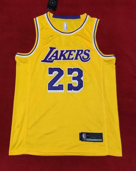Lebron James #23 La Lakers Bordado Premium - A Pedido