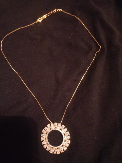 Corrente Mandala Com Pedras De Zircone ,banhada A Ouro,muito