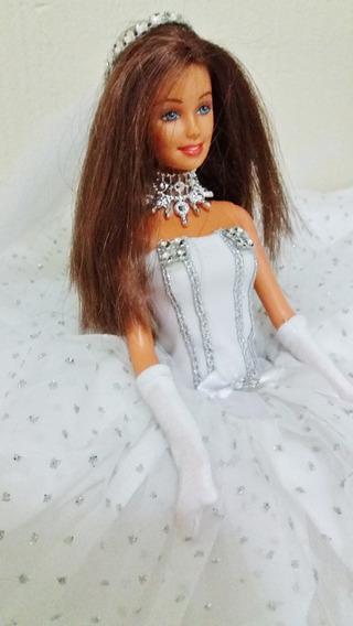 Barbie Fashion Noiva Morena