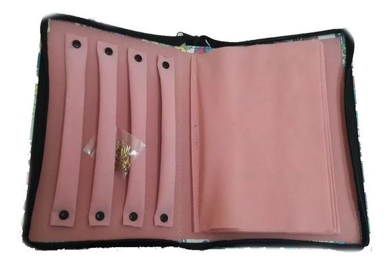 Carpeta Gde Organizadora De Joyeria Rosa Plata 925 Oro Taxco