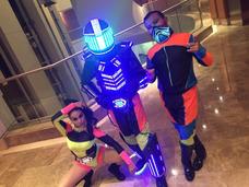 Animacion Robot Led Hora Loca Show Eventos 15años Boda