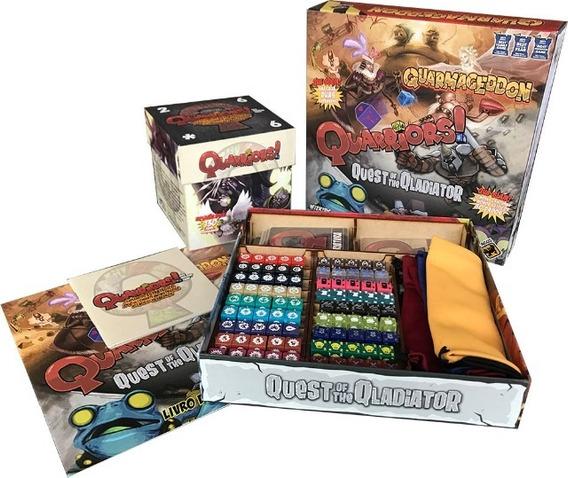 Quarriors + Expansões Quarmageddon E Quest Of The Qladiator