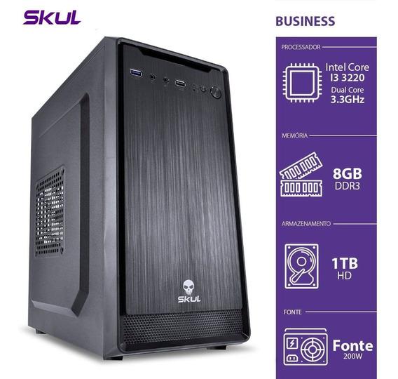 Computador Skul Business B300 - I3, 8g, Hd 1tb, Fonte 200w