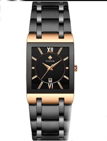 Relógio Masculino Wwoor Original 8858 Luxo Aço Inoxidável