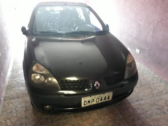 Renault Clio Sedan 1.0 16v 2003 Modelo 2004, Aceito Troca