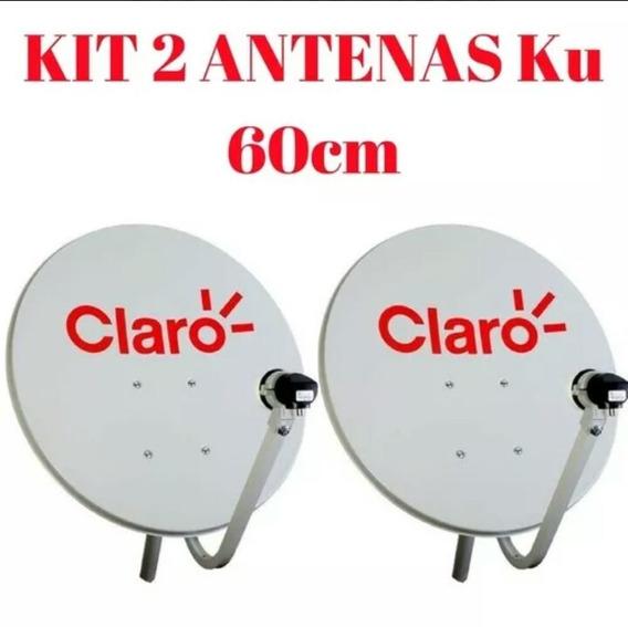 Kit 2 Antenas Ku 60cm Com Logo Super Promoção!