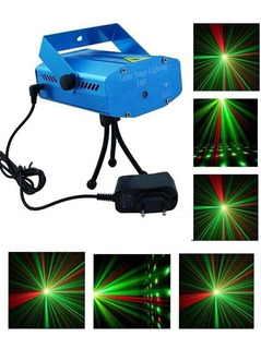 Laser Lluvia Audioritmico Multipunto Luces Dj Profesional Fiesta Efectos Alta Luminosidad Alcance Portatil 220v