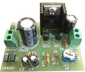 Kit Para Montar Fonte Estabilizada Ajustável Com Transistor