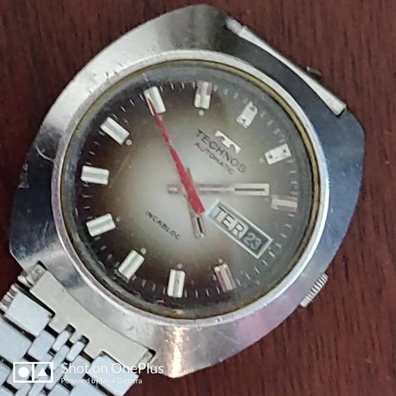 Relógio Technos Masc Automático Aço Inox Swiss Made