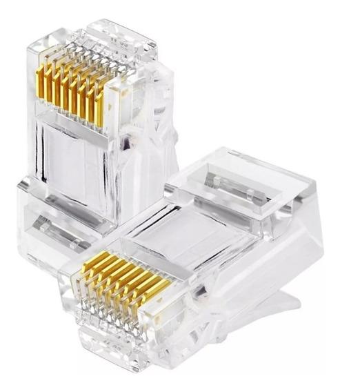 100 Conectores Rj45 Cat5 Macho Cabo Rede Lan Plug Rede