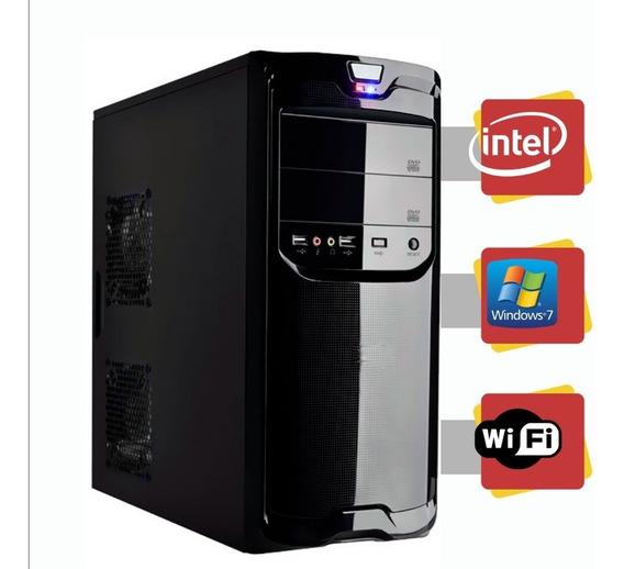 Computador Intel Dual Core 4gb Hd 160 Gb Windows 7 Com Wi-f