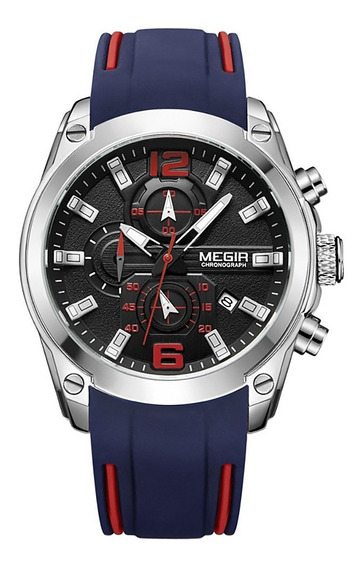 Megir 2063 Men Sport Wrist Watch Azul