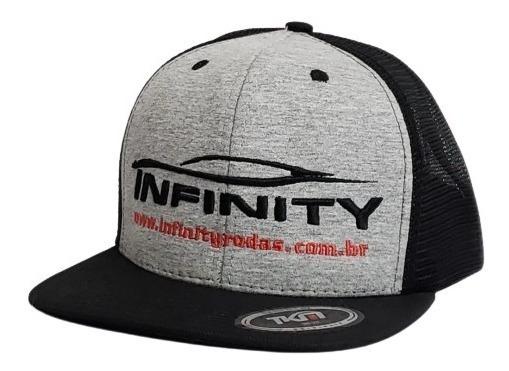 Boné Infinity Rodas Snap Back Cinza Com Preto 1020