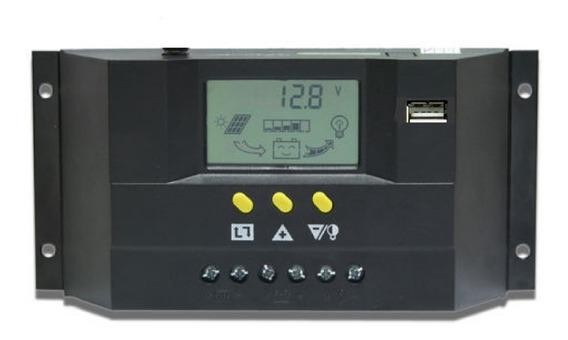 Controlador De Carga 20a 12v/24v Regulador Sistema Solar Lc