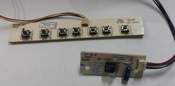 Teclado De Funções + Sensor Da Tv Cce Ln322