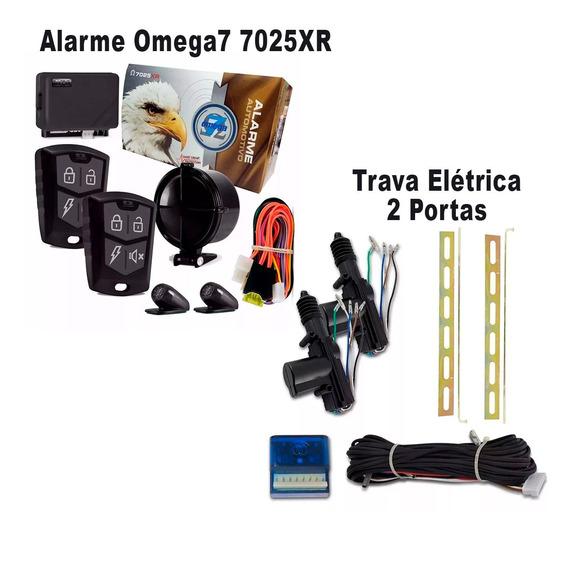 Alarme Omega 7 7025xr Completo + Trava Elétrica 2 Portas