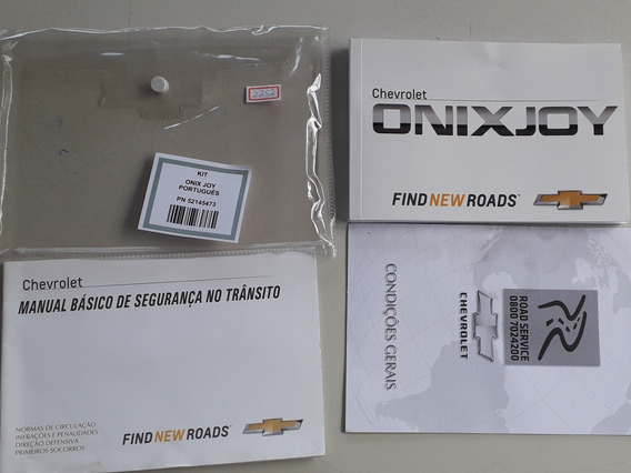 Literatura De Bordo Do Gm Onix Joy 2017/2018 Original #2252