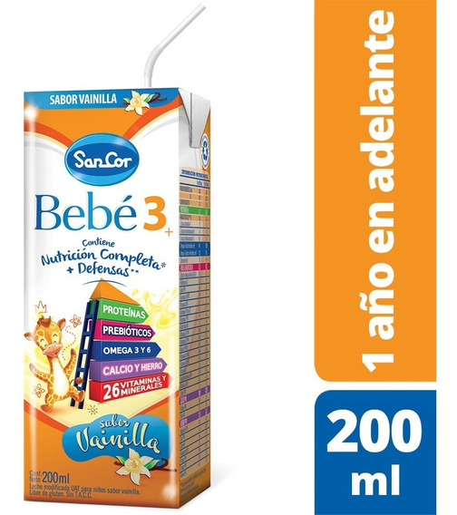 Sancor Bebe 3 Leche Infantil Liquida 1 Brick X 200ml