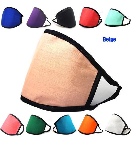 Cubrebocas Triple Capa Lavable Reutilizable Mascarilla Color