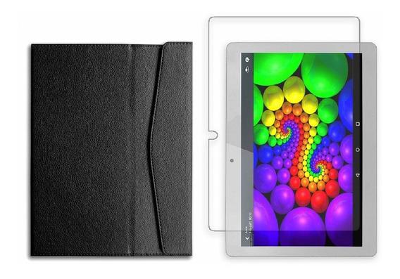 Capa 10 Pol E Película Univ Tablet Multilaser M10a Nb253 254
