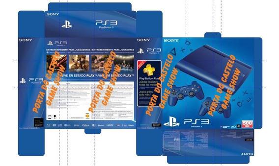 Arte Em Pdf Caixa Playstation 3 Slin Azul