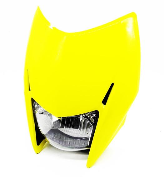 Farol Completo Com Carenagem Honda Bros 2009 A 2012 Amarela