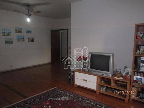 Apartamento À Venda, 141 M² Por R$ 1.200.000,00 - Icaraí - Niterói/rj - Ap1322